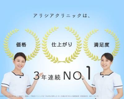 アリシアクリニック価格・仕上がり・満足度No.1