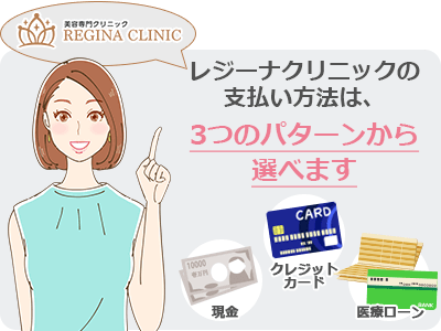 レジーナクリニック3つの支払方法
