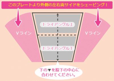 Vラインの形デザインテンプレート