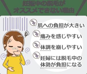 妊娠中の脱毛がオススメできない理由