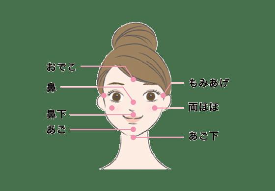 キレイモ顔脱毛の範囲