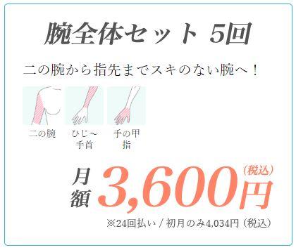 東京中央美容外科腕全体セット料金