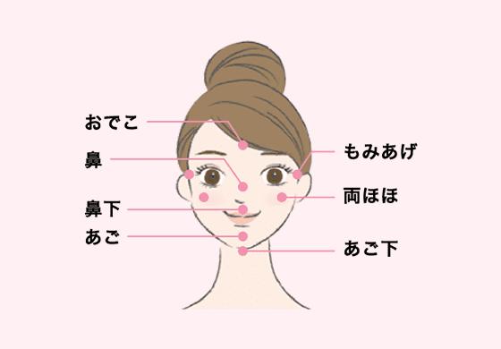 キレイモの全身脱毛で施術可能な部位_顔