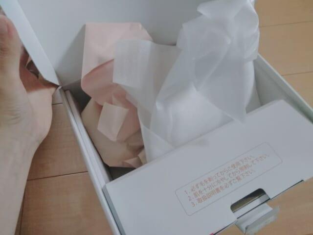 公式サイトから購入したケノンが入っていた箱の緩衝材