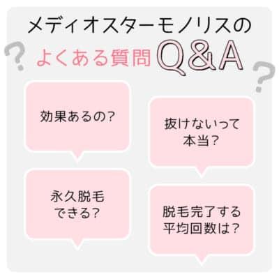 メディオスターモノリスのよくある質問Q&A