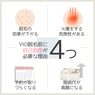 VIO脱毛前に自己処理が必要な理由4つ