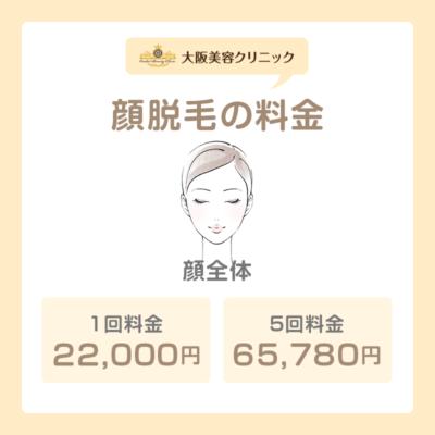 3.顔脱毛の料金